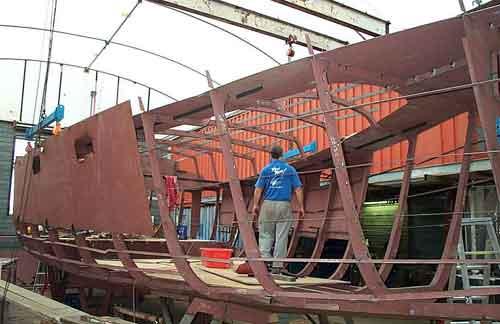VOYAGER 495 STEEL BOAT KITS Bruce Roberts Steel Boat Plans Boat Building Boatbuilding Steel